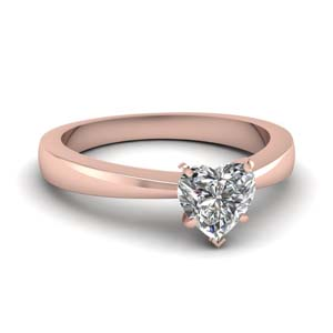 Heart Diamond Single Stone Ring