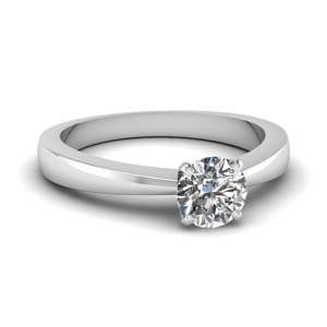 Tapered Traditional Engagement Ring