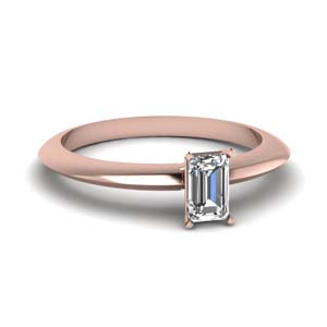 knife edge emerald cut diamond engagement ring in FDENR1283EMR NL RG
