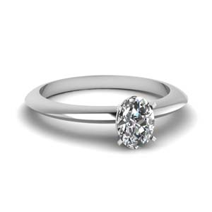 knife edge oval diamond solitaire engagement ring in FDENR1283OVR NL WG