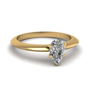 Gold Knife Edge Diamond Ring