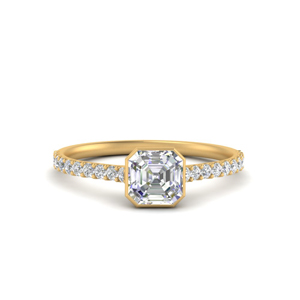 Bezel Set Moissanite Ring