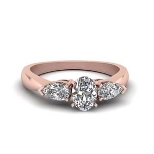 Pear Accented Oval Shaped Ring