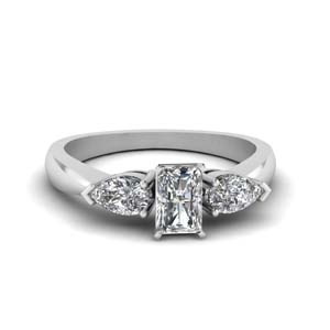3 Stone Radiant Diamond Ring