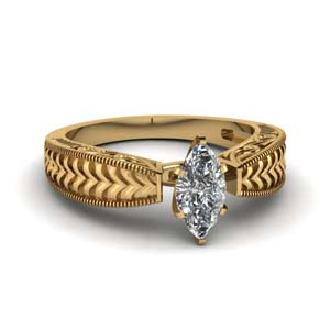 Filigree Marquise Shaped Ring