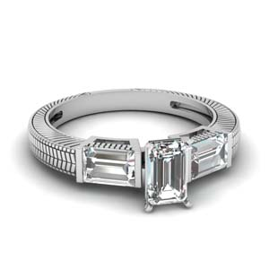 Emerald Cut With Vintage Ring