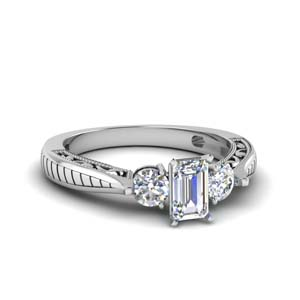 1 Ct. Diamond Vintage 3 Stone Ring