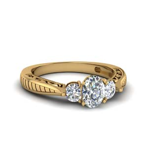 Vintage Oval Diamond Ring 1 Ct.