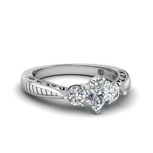 1 Ct. Platinum Pear Diamond Ring