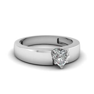 Flat Solitaire Ring