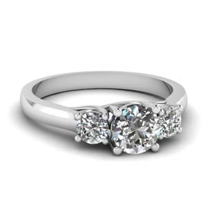 3 Stone Cathedral Diamond Ring