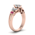 antique design marquise diamond ring with pink sapphire in FDENR2112MQRGSADRPIANGLE2 NL RG