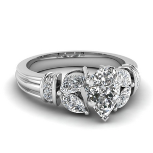 1.50 Ct. Diamond Vintage Petal Ring