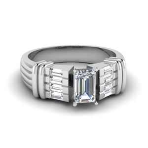 Baguette Diamond Wide Ring