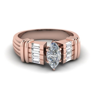 Baguette Wide Diamond Ring