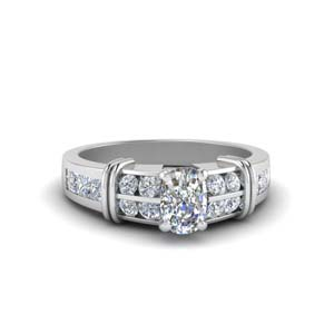 Wide Diamond Engagement Ring