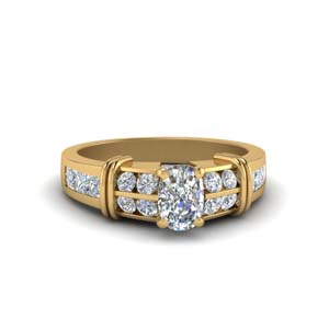 Channel Wide Diamond Ring