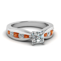 princess-cut-diamond-engagement-ring-with-orange-sapphire-in-14K-white-gold-FDENR2224PRRGSAOR-NL-WG