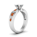 princess-cut-diamond-engagement-ring-with-orange-sapphire-in-14K-white-gold-FDENR2224PRRGSAORANGLE2-NL-WG