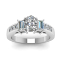 oval shaped diamond modern fit side stone engagement ring in 14K white gold FDENR2350OVRANGLE5 NL WG