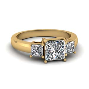 1 Ct. Princess Diamond Three Stone Ring