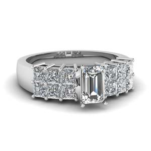 Lab Diamond 2 Row Engagement Ring