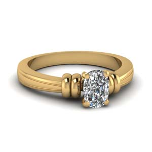 Cushion Diamond Solitaire Ring
