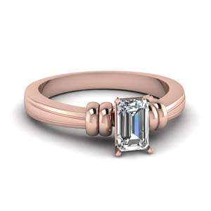 Bar Emerald Cut Ring
