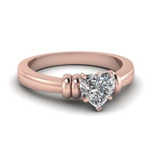 Duple Bar Heart Diamond Ring