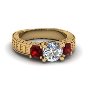 Ruby With Bezel Set Ring