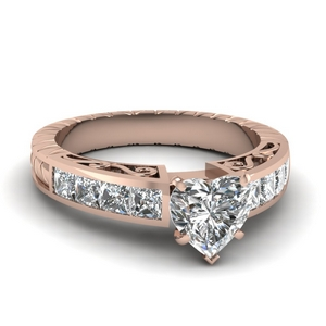 1.5 Carat Heart Diamond Ring