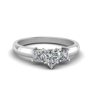 Heart Shaped diamond Wedding Ring