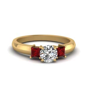 Natural Ruby Engagement Ring