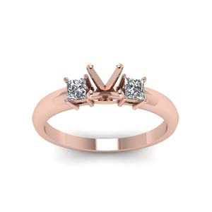 Semi Mount 3 Stone Engagement Ring