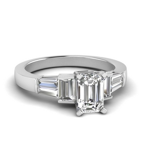 Baguette Diamond Big Engagement Ring