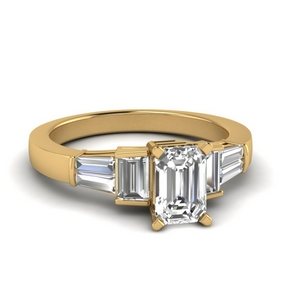 Emerald Cut Moissanite Ring