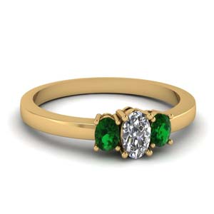 Yellow Gold 3 Oval Ring
