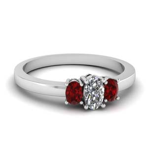 Ruby Basket Prong Ring