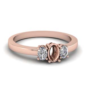 3 Stone Engagement Ring Setting