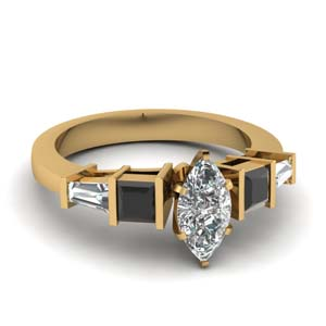 Marquise Shaped Art Deco Ring