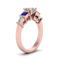 princess-cut-diamond-engagement-ring-with-blue-sapphire-in-14K-rose-gold-FDENR2751PRRGSABLANGLE2-NL-RG