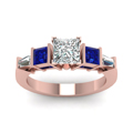 princess-cut-diamond-engagement-ring-with-blue-sapphire-in-14K-rose-gold-FDENR2751PRRGSABLANGLE5-NL-RG
