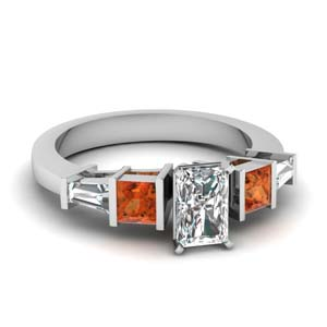 Art Deco Radiant Cut Diamond Ring