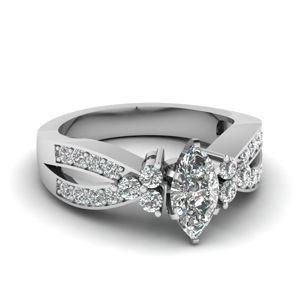 Split Shank Marquise Cut Ring