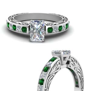 vintage-channel-set-radiant-cut-diamond-engagement-ring-with-emerald-in-FDENR2913RARGEMGRANGLE3-NL-WG