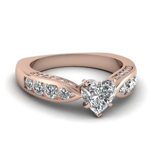 1.50 Carat Tapered Engagement Ring