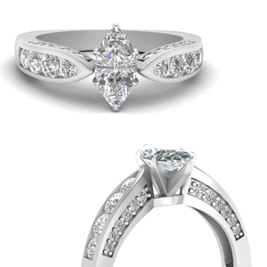 Platinum Marquise Shaped Ring
