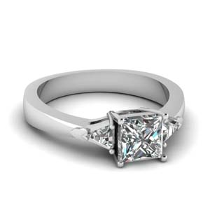 Princess Cut Tapered Diamond Ring