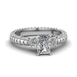 Half Carat Filigree Diamond Ring
