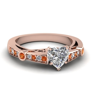 Accent Orange Sapphire Ring